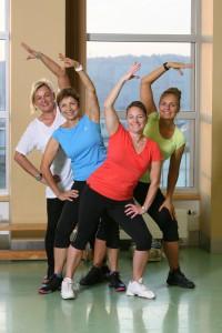 Cvičitelky aerobiku
